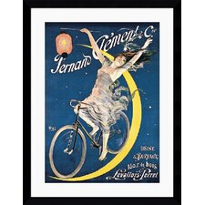 "<strong>Amanti Art</strong> Clement Cycles (c. 1897) by Jean De Paleologue Framed Fine Art Print - 42.62"" x 32.87"""