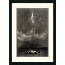 "<strong>Amanti Art</strong> Sheep Under Clouds, 1958 by Harold Feinstein Framed Fine Art Print - 27"" x 20"""