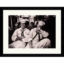 "<strong>Amanti Art</strong> Floppy Sailors by Harold Feinstein Framed Fine Art Print - 26.49"" x 34.62"""