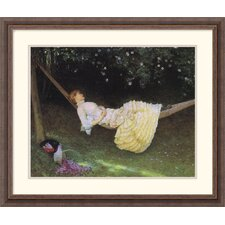 "<strong>Amanti Art</strong> The Hammock by Edward Killingworth Johnson Framed Fine Art Print - 22.3"" x 27.05"""
