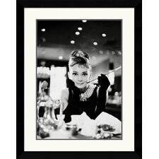 <strong>Amanti Art</strong> Audrey Hepburn-Breakfast at Tiffany's Framed Art Print
