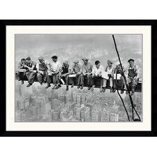 <strong>Amanti Art</strong> New York - Lunch Atop A Skyscraper Framed Art Print