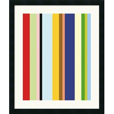 'Curry Stripe' by Ron Bleier Framed Graphic Art