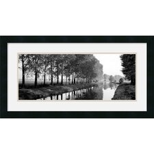"<strong>Amanti Art</strong> Basque Canal Framed Decorative Art Print - 14"" x 26"""