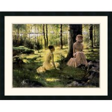 "<strong>Amanti Art</strong> Under the Birches by Albert Edelfelt Framed Fine Art Print - 25"" x 32"""