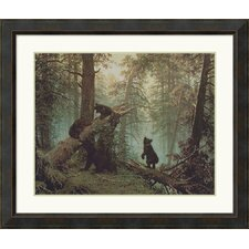 "<strong>Amanti Art</strong> Morning in a Pine Forest by I. Shishkin Framed Art Print  - 32.41"" x 38.41"""