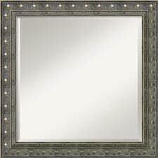 <strong>Amanti Art</strong> Barcelona Square Mirror in Champagne and Pewter