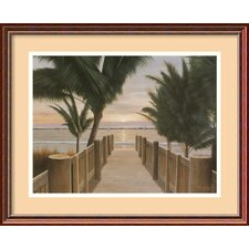 'Palm Promenade' by Diane Romanello Framed Painting Print