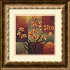 "<strong>Amanti Art</strong> Orange Orchid by Jill Deveraux, Framed Print Art - 16.65"" x 16.72"""