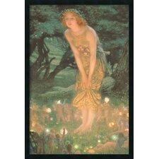 'Midsummer Eve' by Edward Robert Hughes Framed Graphic Art