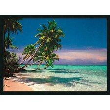 Tropical Beach Framed Painting Print