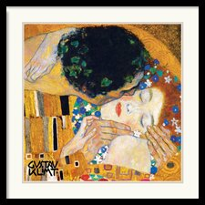 <strong>Amanti Art</strong> The Kiss (Der Kuss) Detail 1 Framed Print by Gustav Klimt