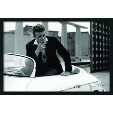 James Dean Car Framed Print