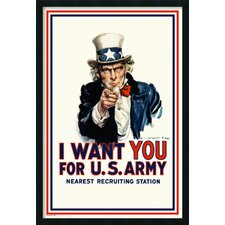 I Want You Uncle Sam Framed Graphic Art