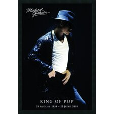 <strong>Amanti Art</strong> Michael Jackson King of Pop Framed Print