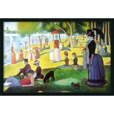 'Sunday Afternoon on the Island of La Grande Jatte 1884-1886' by Georges Seurat Framed Painting Print