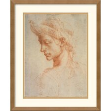 'Drawing of a Woman' by Michelangelo Buonarroti Framed Graphic Art