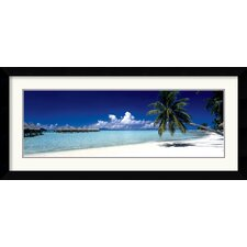 Tropical Beach (Panel) Framed Print
