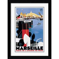 <strong>Amanti Art</strong> Marseille Port Framed Print by Roger Broders
