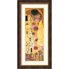 <strong>Amanti Art</strong> The Kiss (Der Kuss) Detail Framed Print by Gustav Klimt