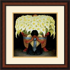 'El Vendedor de Alcatraces' by Diego Rivera Framed Painting Print