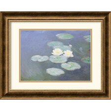 <strong>Amanti Art</strong> Nympheas Effet Du Soir (Water Lilies in the Evening) Framed Print by Claude Monet