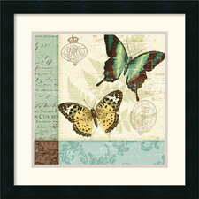 <strong>Amanti Art</strong> Butterfly Patchwork I Framed Print by Pela Studio