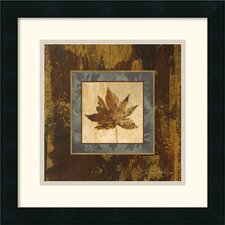 <strong>Amanti Art</strong> Autumn Leaf Square IV Framed Print by Silvia Vassileva