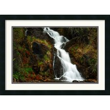 <strong>Amanti Art</strong> Mountain Waterfall Framed Print by Andy Magee