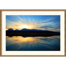 <strong>Amanti Art</strong> Sunset on Jackson Lake Framed Print by Andy Mage