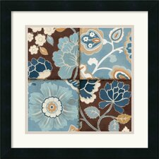 <strong>Amanti Art</strong> Patchwork Motif Blue II Framed Print by Alain Pelletier