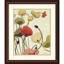 <strong>Amanti Art</strong> Pavots Ondule II Framed Print by Shirley Novak