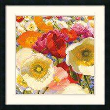 'Sunny Abundance II' by Shirley Novak Framed Painting Print