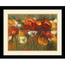 'The Power of Red II' by Shirley Novak Framed Painting Print
