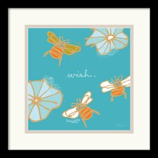 'Bees II' by Peter Horjus Framed Graphic Art