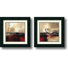 'Symphony' by Laurie Maitland 2 Piece Framed Painting Print Set