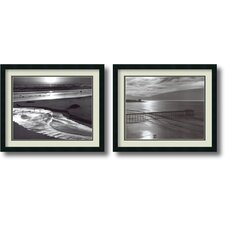 'Beach, 1966' by Ansel Adams 2 Piece Framed Photographic Print Set
