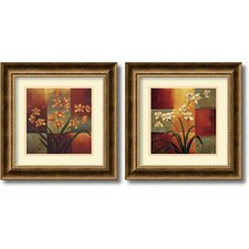 Orchids Framed Print by Jill Deveraux (Set of 2)