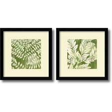 Leaves Framed Print by Erin Clark (Set of 2)