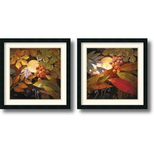 'Tropical Moonlight' by Jung K. An 2 Piece Framed Painting Print Set