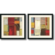 <strong>Amanti Art</strong> Rosetta Framed Print by Elya DeChino (Set of 2)