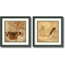 <strong>Amanti Art</strong> Moth and Owl Feather Frame Print by Susan Friedman (Set of 2)