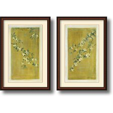 <strong>Amanti Art</strong> Plum Blossoms Framed Print by Paris Gerrard (Set of 2)