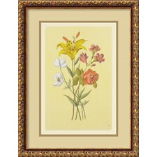 <strong>Amanti Art</strong> Botanical Bouquet IV Italian Engraving Framed Print