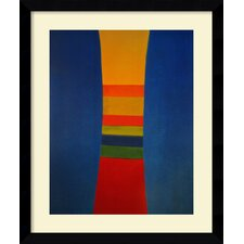 'Striped Column, 1964' by Jack Bush Framed Graphic Art