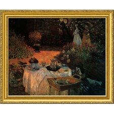 'Luncheon in the Garden' by Claude Monet Framed Graphic Art