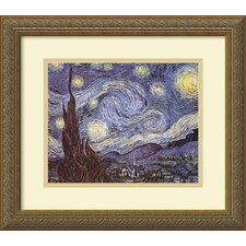 "The Starry Night by Vincent Van Gogh, Framed Print Art - 15.12"" x 17.24"""