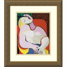 "<strong>Amanti Art</strong> The Dream by Pablo Picasso, Framed Print Art - 16.12"" x 14.12"""