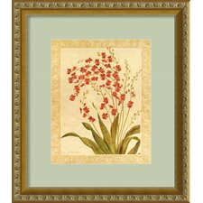 "Red Begonias by Gloria Eriksen, Framed Print Art - 15.88"" x 13.94"""