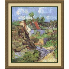 "<strong>Amanti Art</strong> Houses at Auvers, 1890 by Vincent Van Gogh, Framed Print Art - 30.06"" x 26.12"""